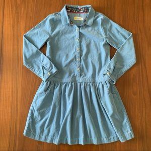 Mini Boden Johnnie B blue corduroy dress 9-10Y